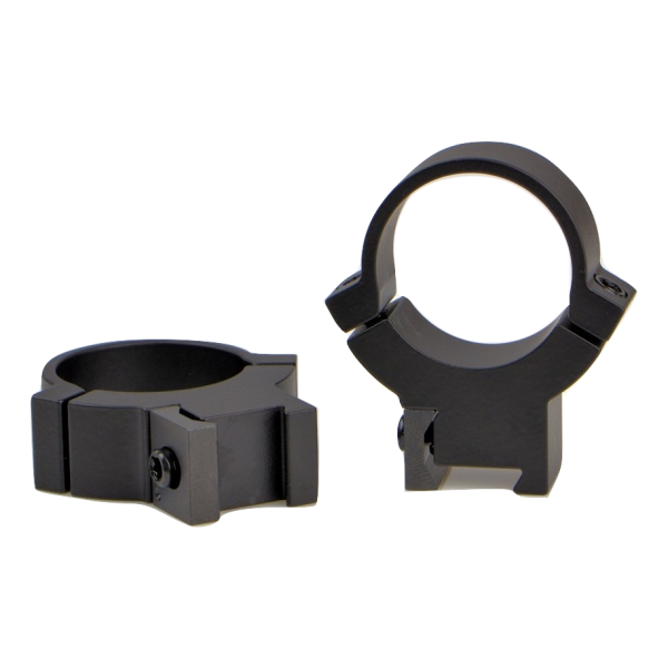 "Rimfire Rings High Height Matte Black - For either a 3/8″"" or 11mm Dovetail. Not for Weaver or Picatinny Rails"