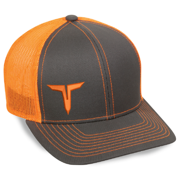 Trucker Logo Cap   Orange/Grey