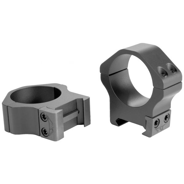 WARNE 1in Steel Rings - Medium Height - Custom Graphite Gray matches TORIC scopes