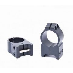 WARNE 1in Steel Rings - High Height - Custom Graphite Gray matches TORIC scopes