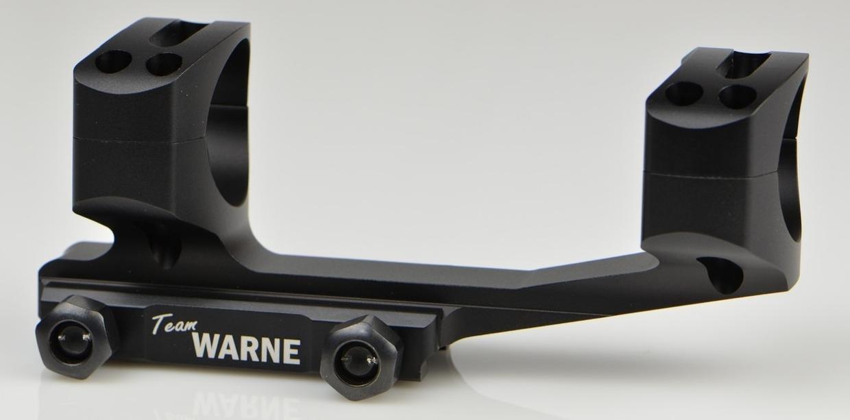 Warne Gen 2 Extended Skeletonized 1in AR/MSR Mount - Black Matte