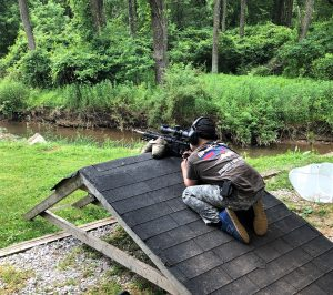 Boy shooting at the Mid Atlantic Rimfire Series